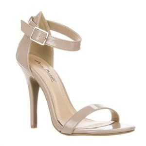 Anne Michelle Enzo Nude Patent Strappy Heels
